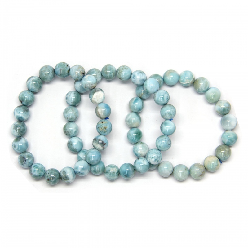 Bratara din Larimar Diametru 58 mm din Margele Rotunde - 10-10,9 mm