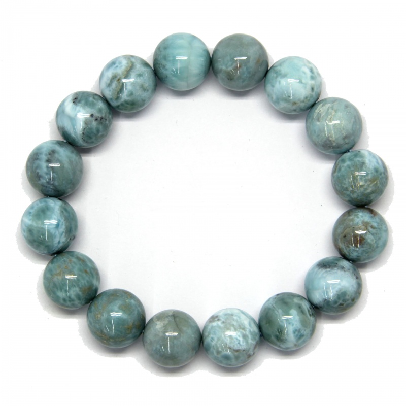 Bratara Larimar Diametru 65 mm din Margele Rotunde - 14 x 14 mm