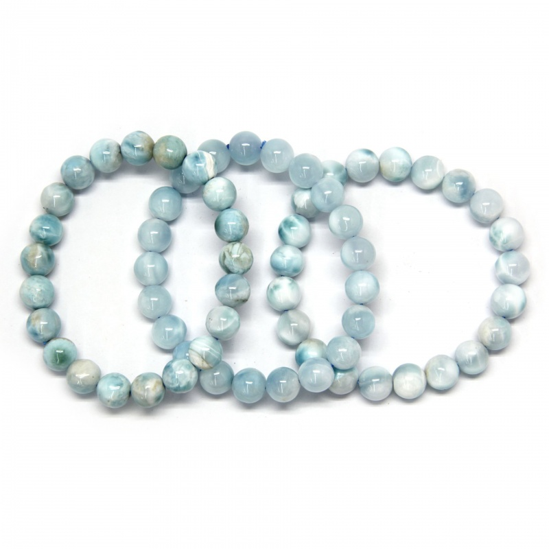 Bratara Larimar Unicat, Diametru 56 mm, Rotunda 9 mm