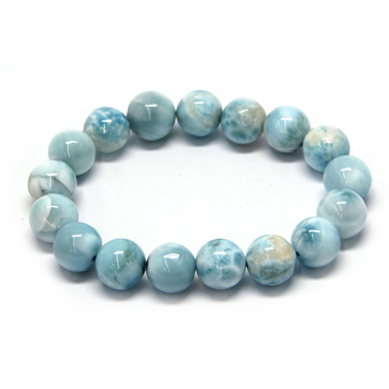 Bratara Milky Larimar, Diametru 58 mm, Rotunda 12-12,9 mm