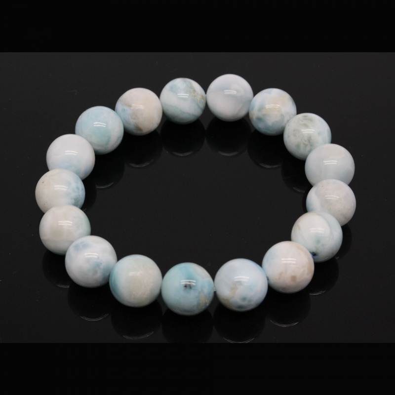 Bratara Larimar Unicat Rotunda 12 mm, Diametru 55 mm