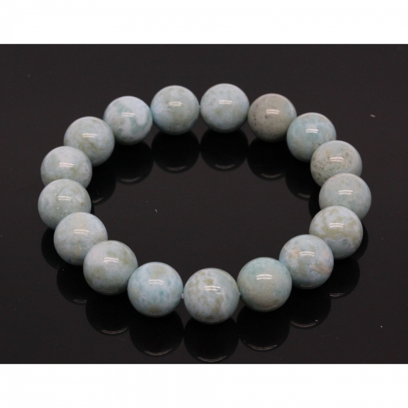 Bratara Larimar Unicat Rotunda 12 mm, Diametru 58 mm